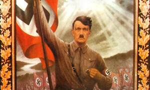 Hitel with Nazi Flag