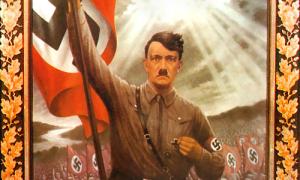 Hitel with Nazi Flag
