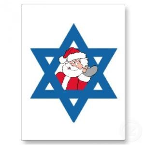 Santa in Jewish star